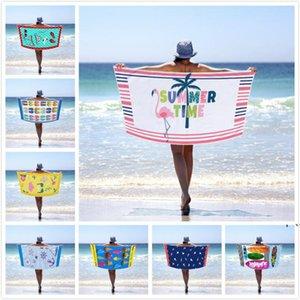 Retangel Beach Towel 다채로운 수건 마이크로 화이버 담요 수영 수건 인쇄 성인 목욕 수건 잎 패턴 스포츠 목욕 수건 DWD5524
