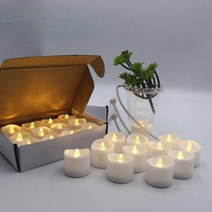 Candles LED Christmas Cute Candle Electric Flameless Ritual Wedding Yellow Designer Lume Di Candela Home Decoration 50LZ