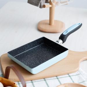 알루미늄 합금 Nonstick 프라이팬 팬케이크 오믈렛 계란 냄비 냄비 휴대용 직사각형 조리기구 깊은 가스 유도 GWF5072