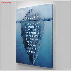 "Unframed alec Monopoly ""success Iceberg"",hd Canvas Print Home Decor Wall Art Painting,of qylYYz bdetoys"