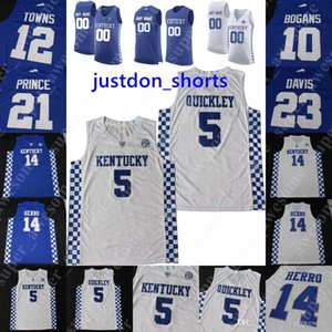 NCAA Kentucky Wildcats Баскетбол Джерси EJ Montgomery Tyrese Maxey Kahlil Whitney Ник Ричардс Иммануил быстрыми городами Дэвис Боганс Принц