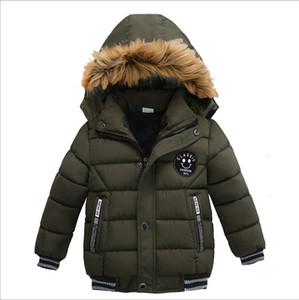 Fashion Boys Down Coats Autumn Winter Kids Hooded Warm Jackets Cotton Children Outwear Windbreaker Boys Jacket