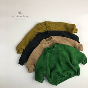 WD INS Newest Koren Quality Girls Boys Knitted Sweaters Winter Full Sleeve Unisex kids Pullover Sweater 1-6 Years