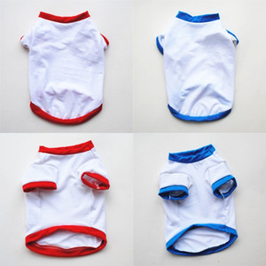 Spring Summer Puppy Outwear 2 Colours Sublimation Blanks Pet T Shirt White Male Female Outdoor Dog Wear Clothes Elastic Washable 3 5ye G2