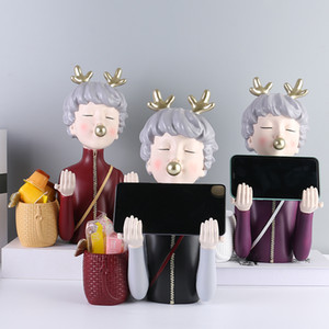 Craft Bubble girl figurines resin statues office ornaments home decoration cartoon image high quality for home or office as a gift to friend