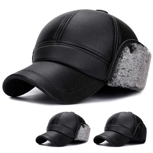 New middle-aged old baseball Korean fashion warm cap autumn and winter men's dad ear protection lint hat