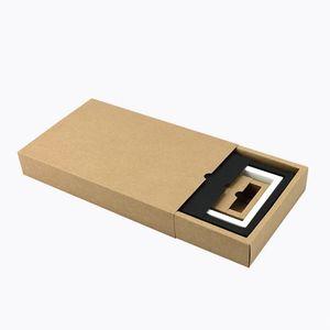 Kraft Paper Packing Box Black Delicate Drawer Display Gift Box Wedding Cookie Cake Boxes Wedding Favor