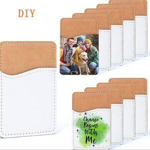 10 stücke Mobiltelefonfälle Sublimation DIY weiße leere PU-Kartenhalter Mobile Brieftasche Wärmeübertragung für Universal