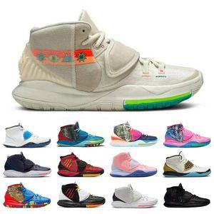 2021 Yeni N7 Kyrie 6 Erkekler Basketbol Ayakkabıları Havuz Vast Gri Tokyo Atış Saati Bred Eleven Dünyayı İyileştirin Erkek Eğitmen Spor Sneakers