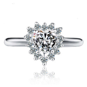 HBP fashion luxury new love diamond super flash ring exquisite spark gift high end