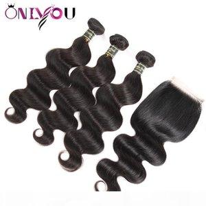 9A indische Körperwelle Human Hair Bündel mit Verschluss Großhandelspreis Body Wave Human Haare FEFTS Schnelles Verschiffen Body Wave Top Vendor