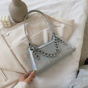 Сумки для женщин для женщин 2020 высокое качество алмазное лазерное маленькое квадратное плечо Messenger Ins Wild PVC Jelly Bag C0302