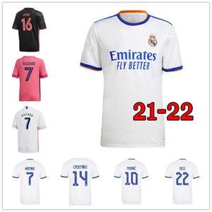 ريال مدريد لكرة القدم الفانيلة لاعب مراوح المشجعين 21 22 قمصان كرة القدم خطر Sergio Ramos بنزيما Asensio Camiseta Men + Kids Kit 2021 2022 Pre Match Training Women Kits