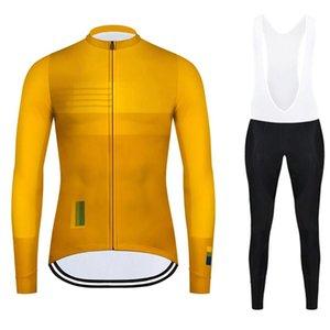 Autumn Cycling Jersey Long Sleeve Cycling Set MTB Road Bike Jersey Men Bib Pants Suit Bicycle Wear Clothes Maillot Sport Uniform