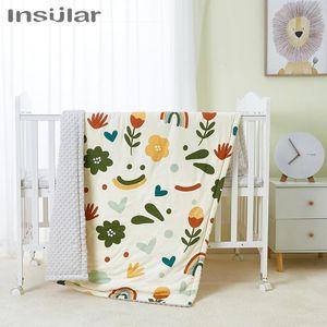 Insular Baby Bedding Quilt Warm Padded Cotton Blanket Cartoon Newborn Baby Blankets Kid Cotton Comfortable Blanket Bed Quilt