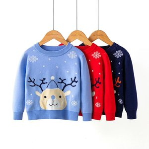 Pullover Est Baby Girl Boy Knitted Sweaters Long Sleeve Autumn Sweater Christmas Print High Quality Kids Knitwear Clothes
