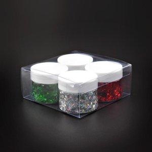 Nail Glitter 4 Color Set Holographic For Nails Shiny Sequins Art Designs Makeup Gel Polish DIY Manicure Decoracion Uñas