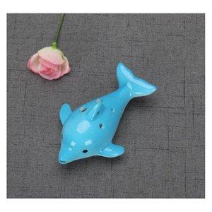 Nouveauté Articles Décor Home Garden Livraison Livraison 2021 Instrument de musique Forme d'animal Musique Musique Flûte Charme Cadeau Enfants 4styles Dolphin Ocarina EDUC