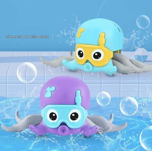 DHL Floating Baby Bathtub Toys for One Year Toddler Gift Swimming Pool Beach Shower Toy of Kids 2 to 4 Years Pull Line Octopus Bathroom wholesale