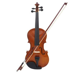 Full Size 4 4 Violin Natural Acoustic Solid Wood Violin Fiddle for Beginner with Case Rosin