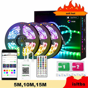 12V Led Strip 5M 10M 15M LED Strip Light ribbon rgb diode tape Bluetooth Controller power adapter for Home