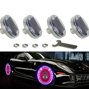 4шт светодиодный автомобильный тюнинг газовый сопл колпачок света дисков колес клапана штока шина движения шин для светодиодных вспышек клапанов шины лампа 13 Flash Color AG
