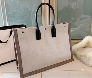 Women handbags Rive Gauche Tote Bag shopping bag handbag high quality fashion linen Large Beach bags luxury designer travel bag