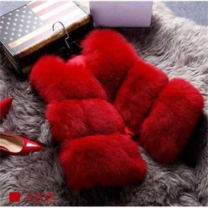 Womens Faux Fur Coat Spring Autumn Winter Coat Women Waist Fur Gilet Women Jacket Vest Ladies Sexy Waistcoats K1113