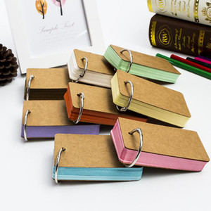 90*50mm Creative Kawaii Solid Color Kraft Paper Memo Pad Loose-Leaf Notes Student Notepad Office School Stationery Supplies