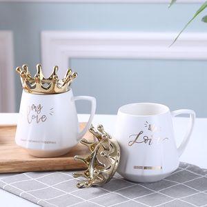 Einfachheit Becher Krone Originalität Telefon Keramikhalterung Trinkwerkzeuge Neue Mode Zubehör Becher Frau Mann Tumbler 10 2nx K2