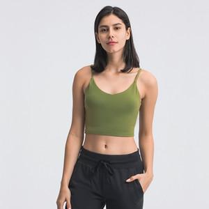 Shockproof Yoga Bra LU-149 Running Gym Sports Bra Top Women Widen Hem Push Up Workout Shirt Fitness Yoga Crop Tops Brassiere