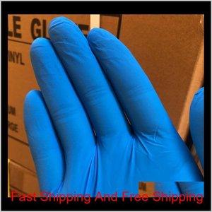 Горячие продажи одноразовые нитриловые латексные перчатки 3 вида технических характеристик Факультативные без порошкового резинового противоскользящего анти-ACI QYLOPY пять2010