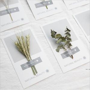 Kunst handgetrocknete Blumen Grußkarte 2021 Neue Persönlichkeit DIY Grußkarten Urlaub Universal Grußkarten Großhandel DHD5401