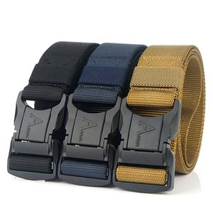 Official Genuine Tactical Belt metal Buckle Military Belt Soft Real Nylon Sports Accessories Tactical Canvas belts