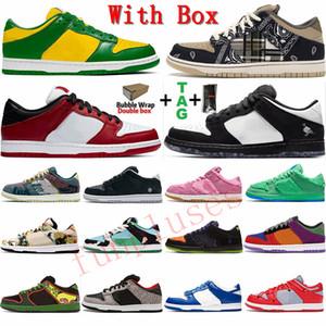 مع صندوق 2021 تريند فاشن رجالي أحذية تزلج منخفضة من جلد الغزال الدب ترافيس سكوت البرازيل شيكاغو أحذية رياضية نسائية أحذية رياضية خارجية