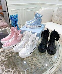 2021 Design luxurys macro Women Wheel Re Nylon Casual Shoes high top sneakers Triple Black White Flat Fashion womens Cloth Lace-up Platform Trainers quality 260