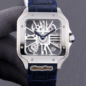 En Iyi Sürüm TWF 2020018 2020033 İskelet Dial İsviçre 4 S20 Otomatik Mekanik Erkek İzle Gümüş Çelik Kılıf Deri Gümüş Luxry Saatler