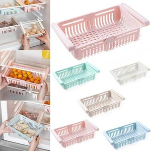 Retractable Drawer Type Refrigerator Container Box Fruit Organizer Basket Fridge Storage Bins BOM666