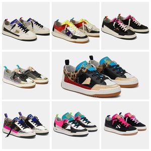 Golden Hi Star Star Print Print Chaussures Star Dan Top Sneakers, Old Sale Chaussures, Chaussures de créatrice de Goose Sale Classic Sale pour hommes et femmes Plus Cadre 5