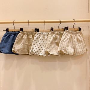 Lzl nouveau coréen ins bébé enfants filles shorts unisexe filles printemps estival d'été boys polka dot coton shorts pantalons