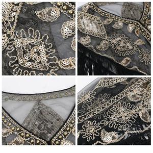 Women Vintage Shawl Shiny Sequins Decoration Fashion Tassels Decoration High Quality Elegant Wedding Dress Accessori jlliII