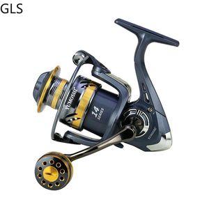 NUEVO KS2000-7000 Carrete de pesca 5.2: 1 Relación engranaje Metal Spool Metal Rocker Spinning Reel Agua salada / Accesorios de pesca de agua dulce