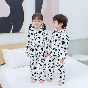 Navidad Moda Pijamas Pijamas Baby Boy Ropa para Ropa de Niñas Niño Niño Garcón Casual Traje Niños Fleece Pijamas 210225