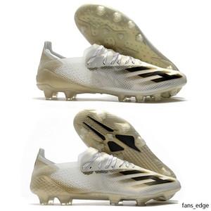 Chaussures de football Hommes Annonces x fantômées + FG AG AG Footwear Footwear BLANC METALLIQUE CORE NOIR NOIRE NORE X SHOSTED.1 FG FTWWHT SOCCER TARTES