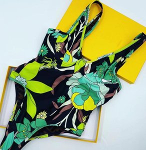 The new model of 2021 hits the shelves, fashion must be covered with print, beach summer beauty show body one-piece swimsuit, S XL