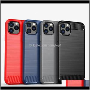 Luxury Fashion Carbon Fiber Case For Samsung Galaxy S21 Ultra S20 S10 Plus 9 8 Matte Soft Silicone Slim Case Cover For Note 20 Ultra L F6Wr0