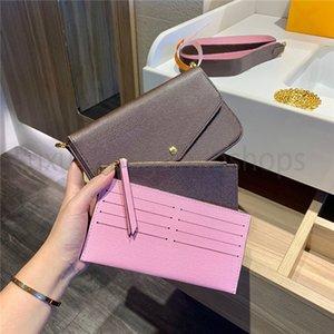 2021 luxurys hommes designers Chaîne de la chaîne de portefeuille d'épaule Womens Sacs à main Porte-tout Sac fourre-tout Clé Zippy Coin sac à main Femmes Sacs de trois pièces