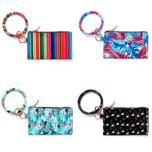 Xun léopard print PU en cuir PULT BRACELET BRACELET Dames Cuir Keychain Bracelet Portefeuille Téléphone mobile Sac Cadeau de Noël 245 U2