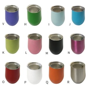 24H ship 12oz Egg Cup Stainless Steel Tumbler Double Wall Water Bottle Wine Glasses Beer Mug Kitchen Bar Drinkware with Lid FY4318