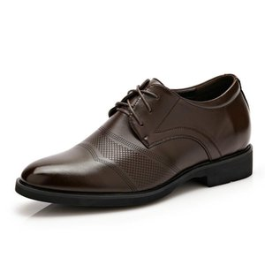 Обувь платье Sapato Oxford Свадьба для мужчин Лифт Формальная кожа Классический роскошный итальянский бренду Chaussures Homme
